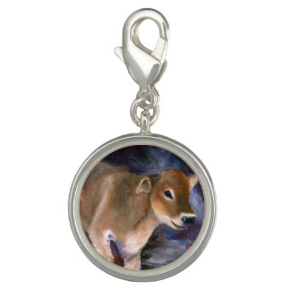 Brown Swiss Calf Charm
