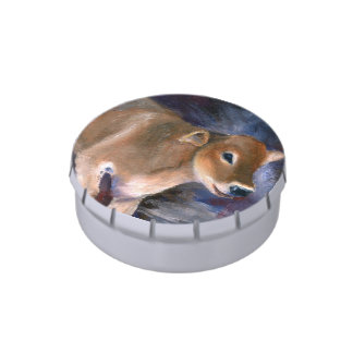 Brown Swiss Calf Jelly Belly Candy Tin