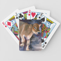 Brown Swiss Calf Playing Cards