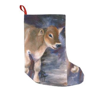 Brown Swiss Calf Small Christmas Stocking