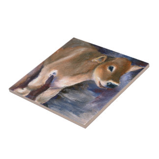 Brown Swiss Calf Tile