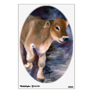 Brown Swiss Calf Wall Sticker