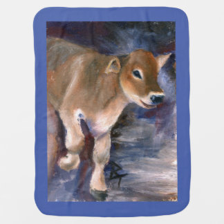 Brown Swiss Calf Stroller Blanket
