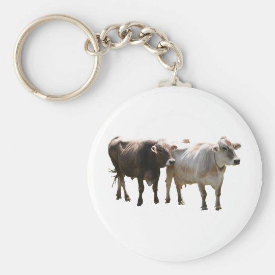 Brown Swiss Cows Keychain