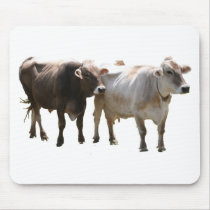 Brown Swiss Cows Mouse Pad
