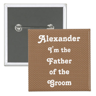 Brown Swiss Dot Casual Wedding Party Pins