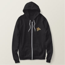 Brown Swiss Embroidered Hoodie