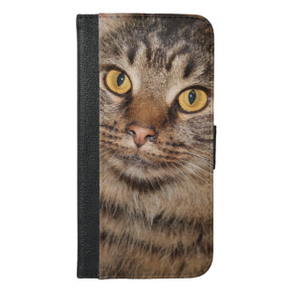 BROWN TABBY CAT CELL PHONE WALLET CASE