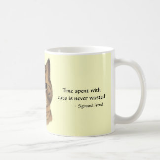 Brown Tabby Cat Quote Gift Mug