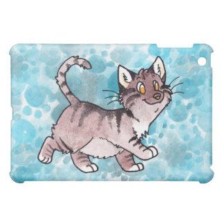 Brown Tabby Kitty iPad Mini Covers
