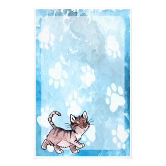 Brown Tabby Kitty Stationery