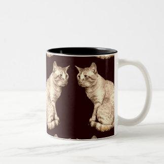 Brown Tabby, Sheldon Two-Tone Coffee Mug