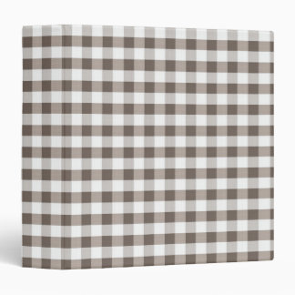 Brown Table Cloth Pattern 3 Ring Binder