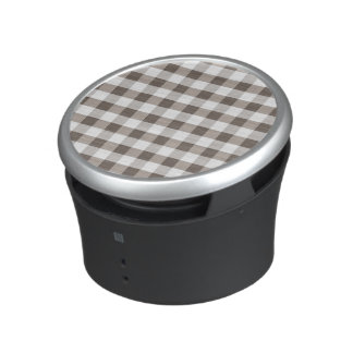 Brown Table Cloth Pattern Bluetooth Speaker
