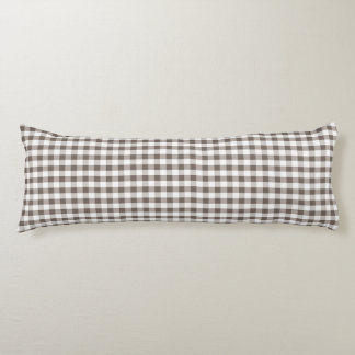 Brown Table Cloth Pattern Body Pillow