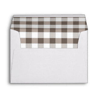 Brown Table Cloth Pattern Envelope