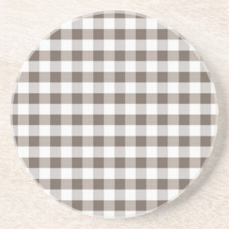 Brown Table Cloth Pattern Sandstone Coaster