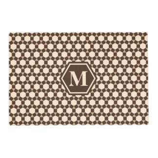 Brown Tan and Almond STH Placemat