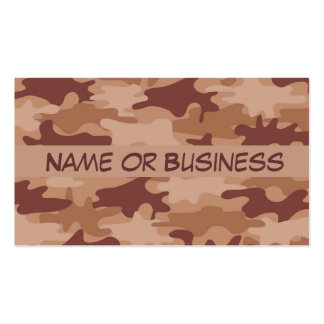 Brown Tan Camo Camouflage Name Personalized Business Card