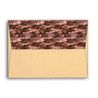 Brown & Tan Camo Look Envelopes You Personalize