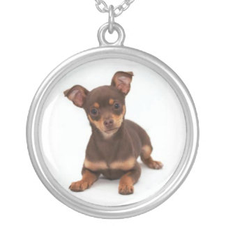 Brown & Tan Chihuahua Necklace