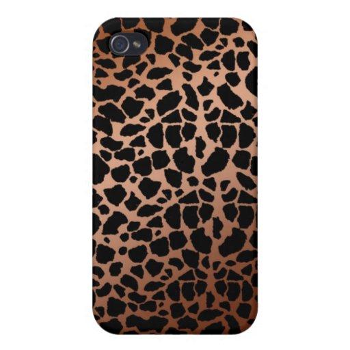 Brown & Tan Giraffe Pattern iPhone 4 Case