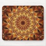Brown Tan Gold Kaleidoscope Art 1 Mouse Pads