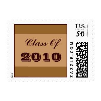 Brown Tan graduation Postage