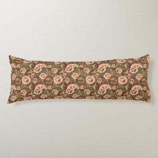 Brown/Tan/Green Peace Signs Body Pillow