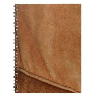 Brown Tan Leather-Look Texture Notebook