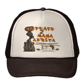 Brown/tan Mama Africa trucker hat