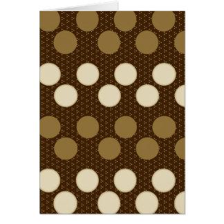 Brown Tan Polka Dots Circles Pattern Gifts Greeting Card