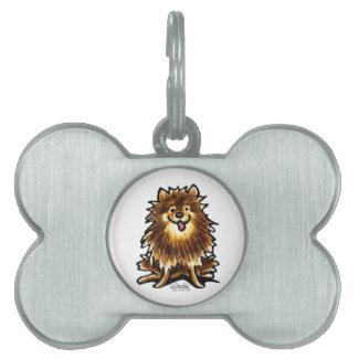 Brown Tan Pomeranian Pet ID Tags