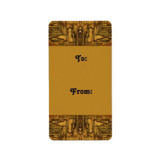 brown tan rustic gift tags address label