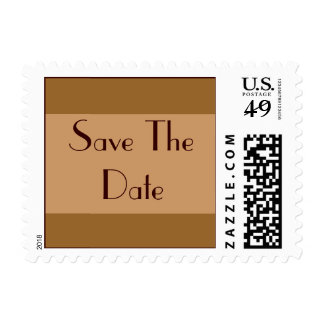 Brown Tan Save the Date Postage