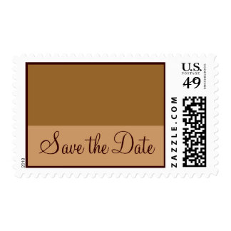 Brown Tan Save the Date Stamp