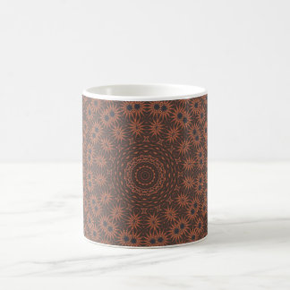 Brown & tan spiked fractal pattern design coffee mug
