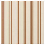 [ Thumbnail: Brown & Tan Stripes Fabric ]