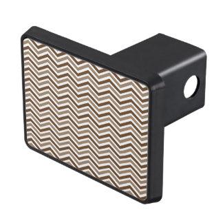 Brown, Tan, White Chevron Stripes Hitch Cover