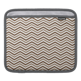 Brown, Tan, White Chevron Stripes Sleeve For iPads