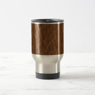Brown Tanned Leather Texture Background Mugs