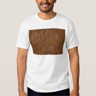 Brown Tanned Leather Texture Background T Shirt