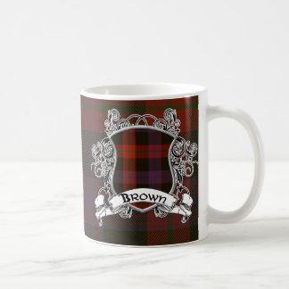Brown Tartan Shield Coffee Mug