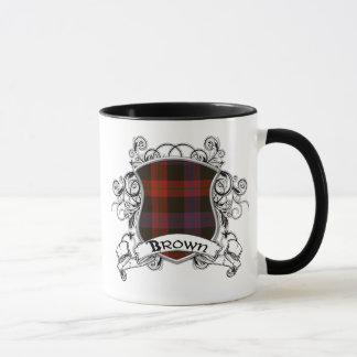 Brown Tartan Shield Mug