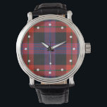 """Brown Tartan Watch<br><div class=""""desc"""">TARTAN BROWN  A tartan plaid associated with the name Brown shown here in its traditional colors.</div>"""
