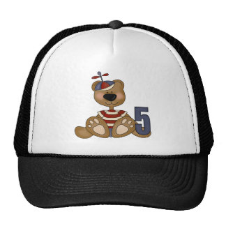 Brown Teddy Bear 5th Birthday Gifts Trucker Hat
