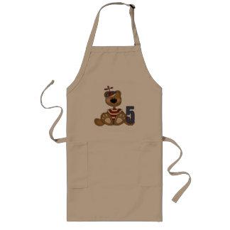 Brown Teddy Bear 5th Birthday Gifts Long Apron