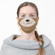 Brown Teddy Bear Animal Face Funny Cute Cartoon Cloth Face Mask