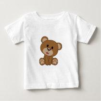 Brown Teddy Bear Baby T-Shirt