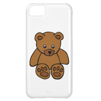 Brown Teddy Bear Cover For iPhone 5C